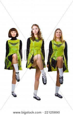 St. Patrick's Day irish girls in green stock photo