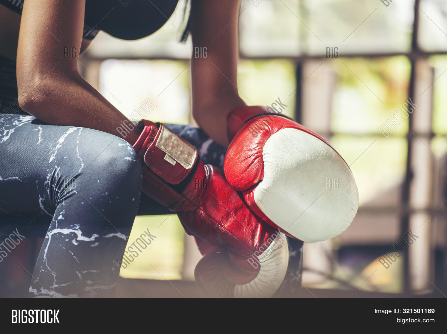 Muay Thai Woman And Healthy Concept.boxing Women Prepare To Trianing Session And Kickboxing,workout