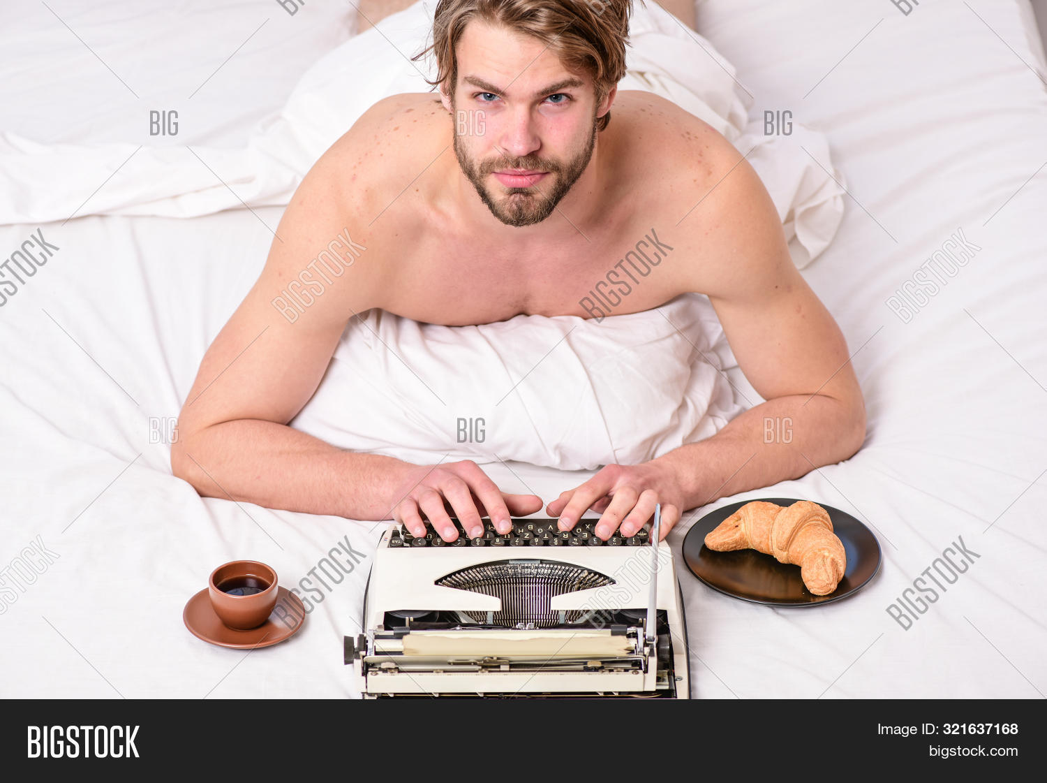 adult,attractive,author,awake,bearded,bed,bedroom,book,breakfast,bring,caucasian,chapter,coffee,concept,create,croissant,daily,enjoy,fashioned,fresh,guy,handsome,hipster,idea,inspiration,lay,leisure,literature,man,manual,morning,novelist,old,relax,retro,routine,typewriter,used,vintage,work,working,write,writer