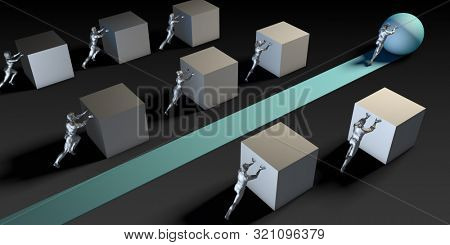 Strategic Thinking and Planning for Marketing Success 3D Render stock photo