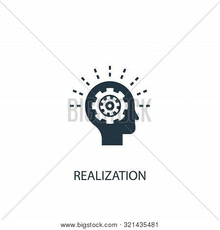 realization icon. Simple element illustration. realization concept symbol design. Can be used for web and mobile. stock photo