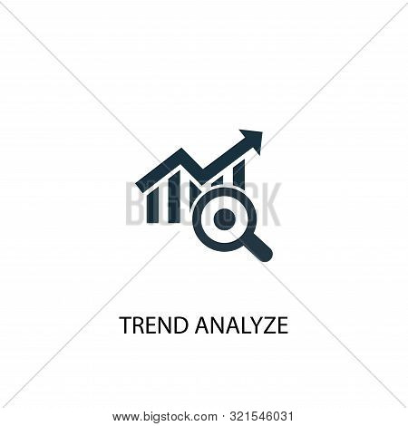 trend analyze icon. Simple element illustration. trend analyze concept symbol design. Can be used for web stock photo