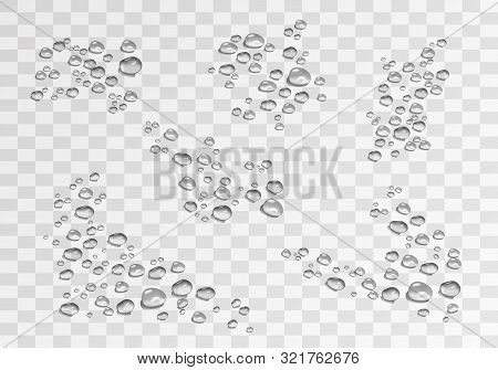 vector bubbles, water drops in realistic volumetric style. monochrome set of black and white 3d water drops, a symbol of freshness and purity. art design elements isolated on light background for advertising, Internet, business, your ideas. stock photo