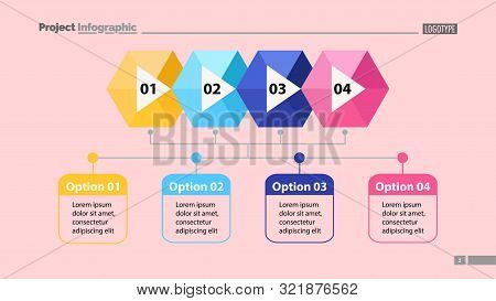 Four Steps Process Chart Slide Template. Business Data. Structure, Diagram, Design. Creative Concept