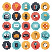 Game Design Flat Icons Set
