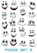 Cartoon faces with distinctive looks