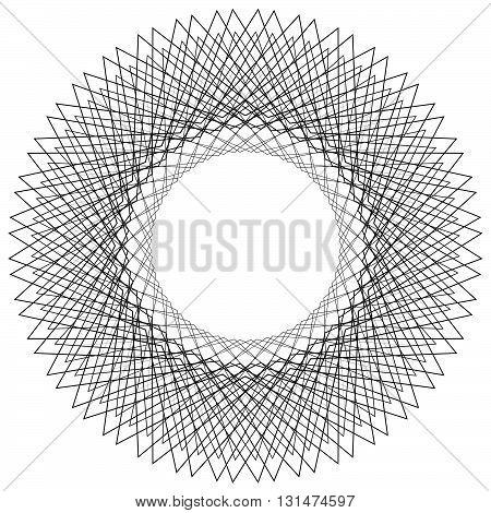 Circular liny illustration. Abstract circle. Monochrome geometric element. stock photo