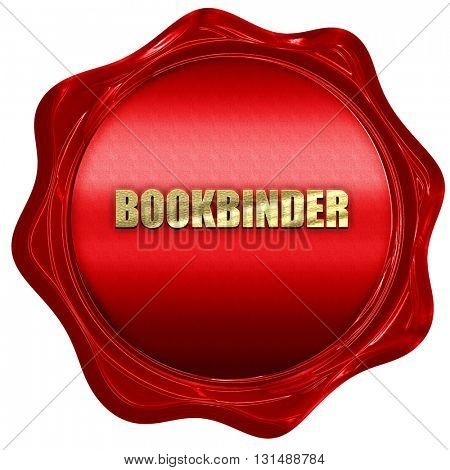 bookbinder, 3D rendering, a red wax seal stock photo