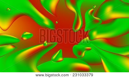 Background liquid. Background colorful abstract holographic 3D gradient  for web, packaging, poster, Billboard, cover, Wallpaper, presentation. A flowing liquid, flow of water. Abstract  illustration. stock photo
