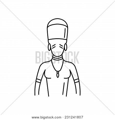 Zulu man icon. Outline zulu man vector icon for web design isolated on white background stock photo