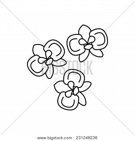Moon orchid icon. Outline moon orchid vector icon for web design isolated on white background stock photo
