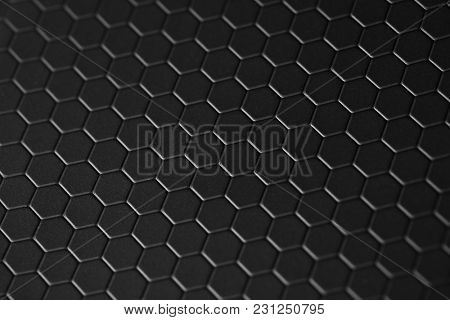 honeycomb teflon black background stock photo