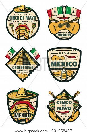 Cinco de mayo mexican holiday sketch icons for mexico traditional 5 m4hsunfo