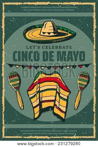 Cinco de mayo mexican holiday celebration greeting card or retro 5 m4hsunfo