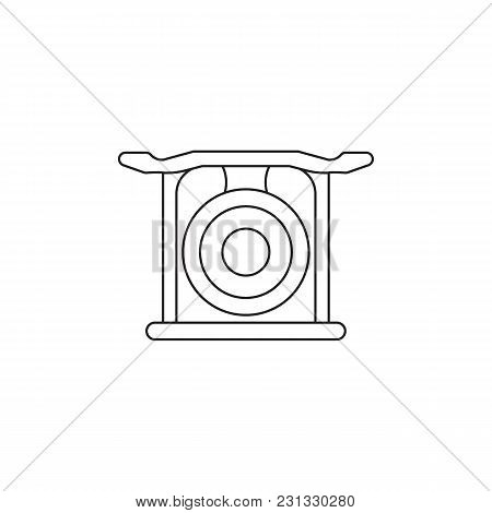 Korean gong icon. Outline Korean gong vector icon for web design isolated on white background stock photo