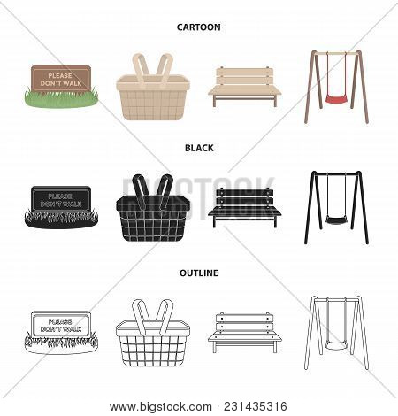 Terrific Garden With A Signal A Basket With Meals A Bench A Squirreltailoven Fun Painted Chair Ideas Images Squirreltailovenorg