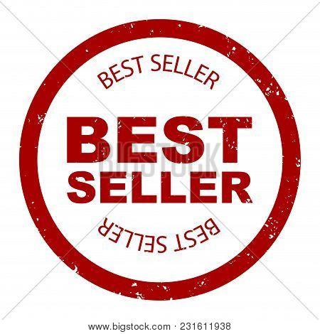 Best seller simple stamp round vector. Bestseller rubber, seller stamp, label quality illustration stock photo