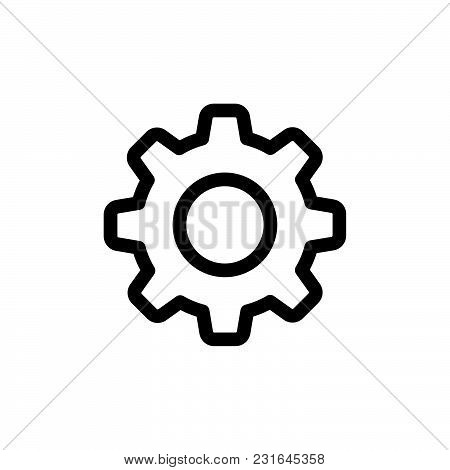 Setting icon isolated on white background. Setting icon modern symbol for graphic and web design. Setting icon simple sign for logo, web, app, UI. Setting icon flat vector illustration, EPS10. stock photo