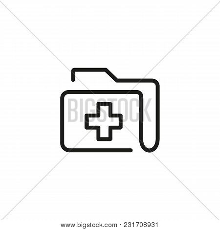 Icon of medical history. Disease, archive, report. Heathcare concept. Can be used for topics like hospital, clinic, paperwork stock photo