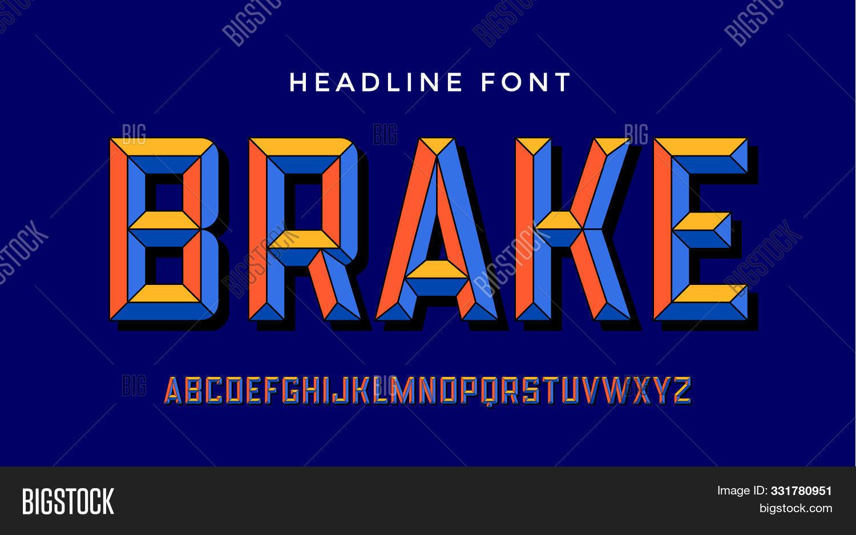 3d Modern Font . Colorful Modern Alphabet And 3d Font