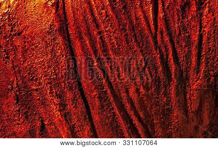 Red and yellow abstract rusty metal background. Iron background covered with rust stock photo