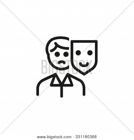Appearance line icon. Mask, person, changing. HR concept. Vector illustration can be used for topics like work search, headhunting, business stock photo