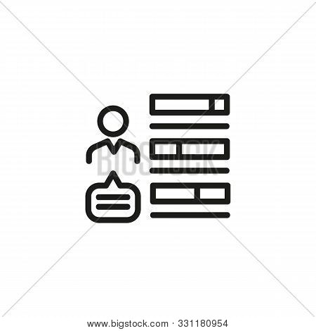 Human skills line icon. CV, abilities, employee. HR concept. Vector illustration can be used for topics like work search, headhunting, business stock photo