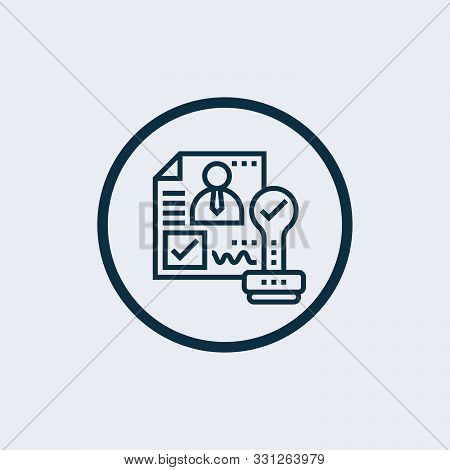 approval icon in two color design style. approval vector icon modern and trendy flat symbol for web site, mobile, app, logo stock photo