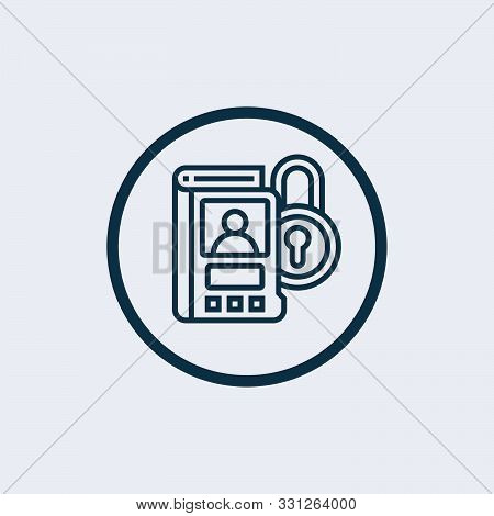 confidentiality agreement icon in two color design style. confidentiality agreement vector icon modern and trendy flat symbol for web site, mobile, app, logo stock photo