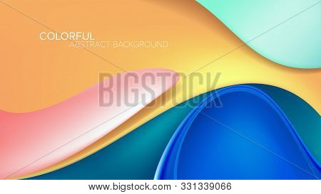 A conceptual illustration of abstract graphic in water theme for stage backdrop, LED background, seminar backdrop. stock photo