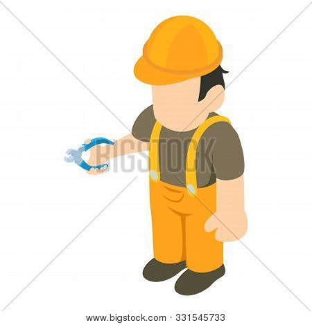 Repairman icon. Isometric illustration of repairman vector icon for web stock photo