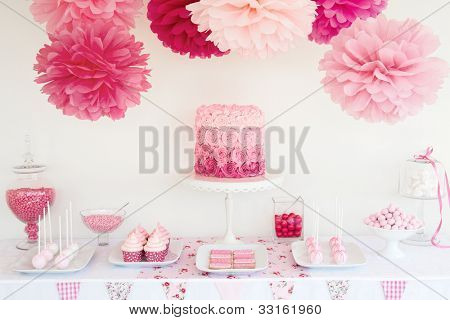Dessert table stock photo