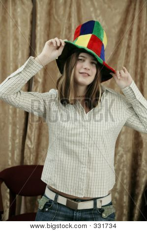 Girl With Fun Hat 331734 Image Amp Stock Photo