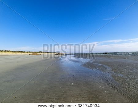 infinity beach in the Coorong National Park, South Australia stock photo