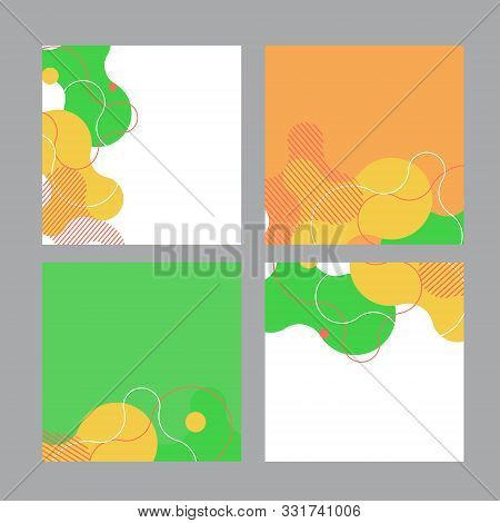 Set of social media banner template for sale and advertising. Coral live and additional color. Vector stock photo
