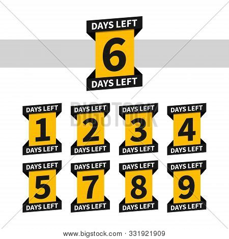 Countdown Banners Or Badges For Landing Page. One, Two, Three, Four, Five, Six, Seven, Eight, Nine O