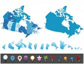 Canada - profoundly nitty gritty map.All components are isolated in editable layers obviously named.