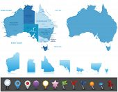 Australia - very definite map.All components are isolated in editable layers plainly marked. Vect