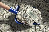 Shovel up cash