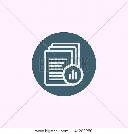 Files Stats Icon In Vector Format. Premium Quality Files Stats Symbol. Web Graphic Files Stats Sign On Blue Circle Background. stock photo