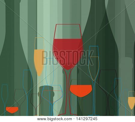 Cocktail Party Vector Bar Menu 141297245 Image Stock