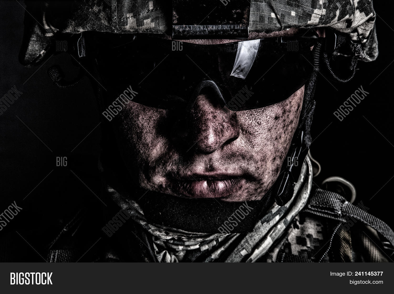 ammunition,armed,army,background,battle,black,camouflage,closeup,combat,combatant,commando,conflict,cropped,darkness,desaturated,dirt,dirty,face,fighter,force,glasses,guard,helmet,infantry,infantryman,man,marine,military,mission,mud,night,portrait,professional,raid,ranger,security,service,serviceman,shooter,soldier,special,sunglasses,tactical,troops,uniform,veteran,war,warfare,warrior