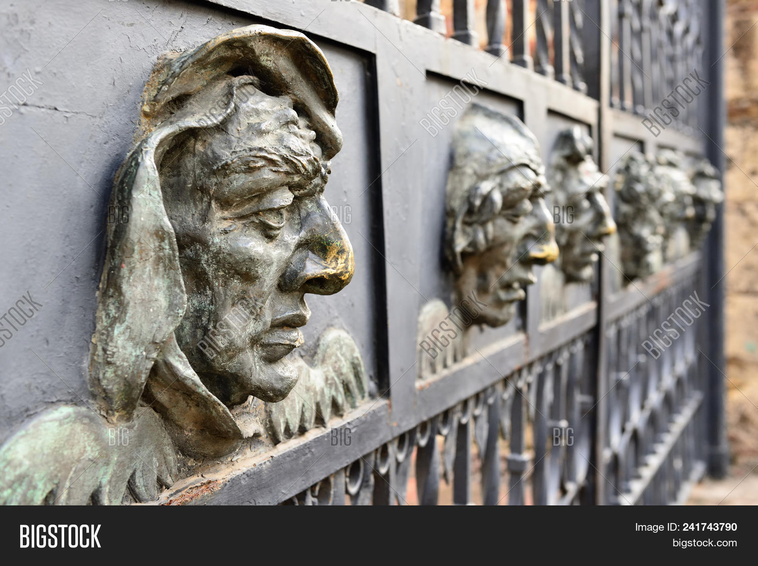 🔥 Detail Iron Face From The Fence Of The Cathedral Of Santa