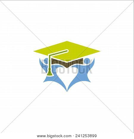 toga hat icon. graduate symbol. vector template ready for use stock photo