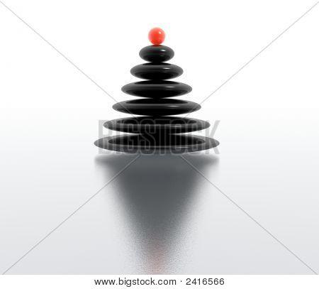 zen christmas tree (high resolution 3d image) stock photo