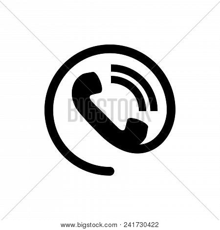 Phone contact icon vector in modern flat style for web, graphic and mobile design. Phone contact icon vector isolated on white background. Phone contact icon vector illustration, editable stroke and EPS10. Phone contact icon vector simple symbol for app,  stock photo