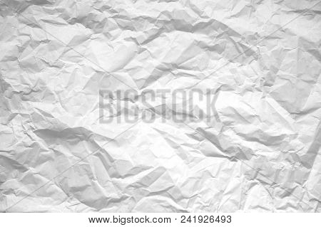 Paper texture background Crumpled paper wrinkled texture, creased white paper sheet stock photo