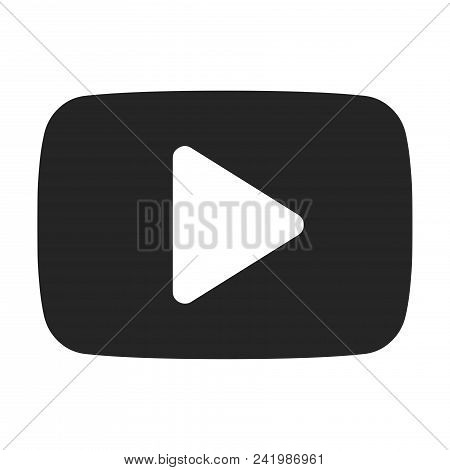 Play button icon simple vector sign and modern symbol. Play button vector icon illustration, editable stroke element isolated on white background. Play button icon in flat design style for mobile, logo, ui, app, web and graphic design, EPS10. stock photo