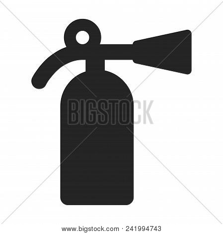 Fire extinguisher icon simple vector sign and modern symbol. Fire extinguisher vector icon illustration, editable stroke element isolated on white background. Fire extinguisher icon in flat design style for mobile, logo, ui, app, web and graphic design, E stock photo