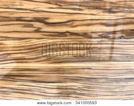 Finished Polished wooden grains over a Laminated or veneered finishes for an Table top counter for an Luxurious Look Carpentry works of an Shopping mall stock photo